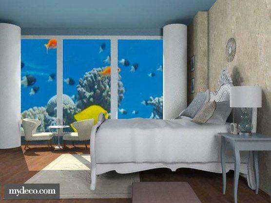 underwater bedroom watery pinterest