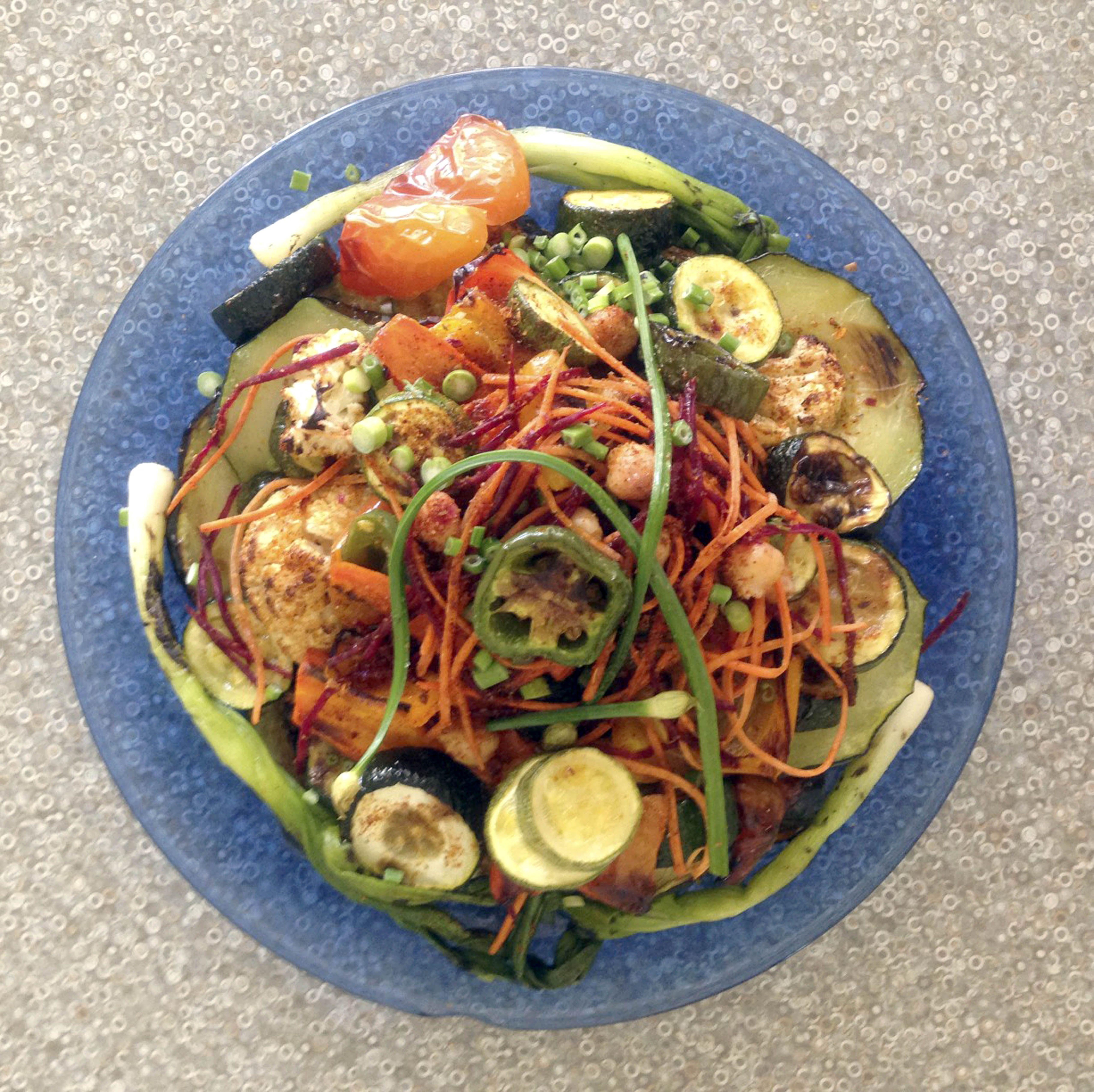 Grilled Zucchini Salad | FUSION SALADS | Pinterest