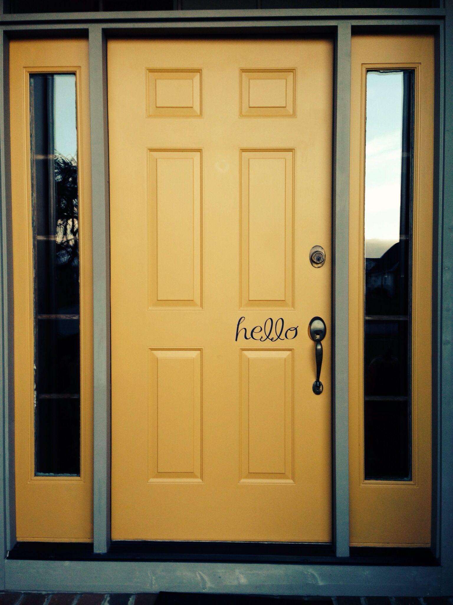 Yellow Front Door Someday Home Pinterest