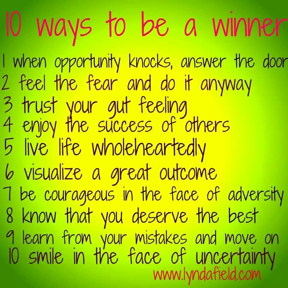 Ways to be a winner quotes inpirational happy pinterest