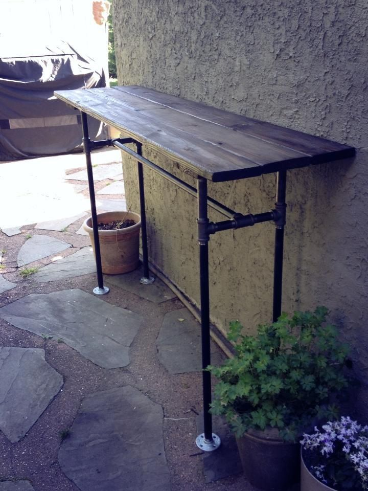 The intentional apartment make an industrial side table industrial side table side tables - Build outdoor bar table ...