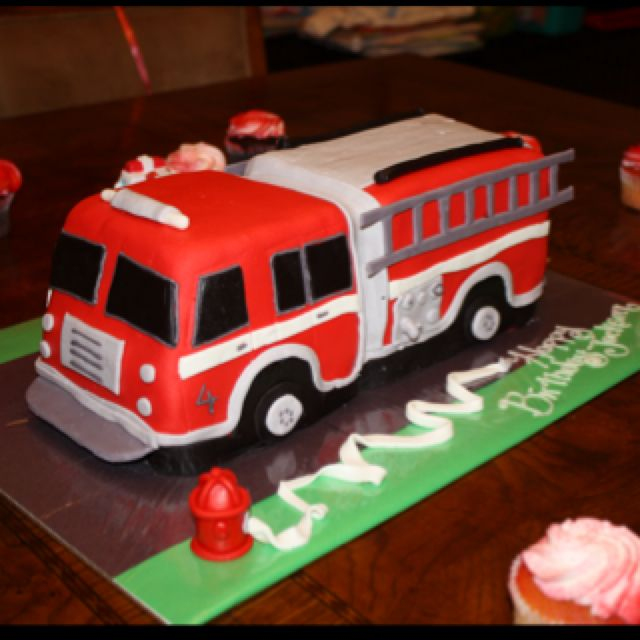 Firetruck Cake Kids Pinterest