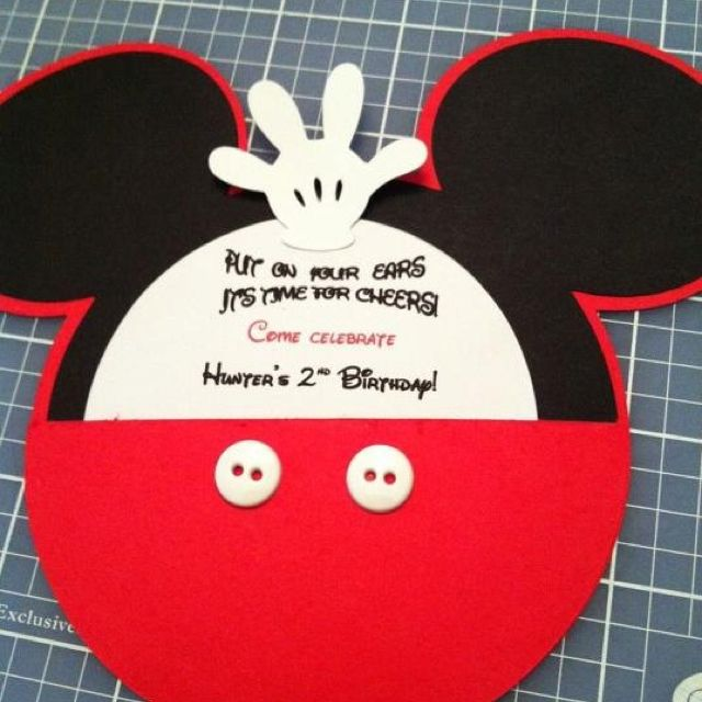 mickey mouse invitations 1st birthday ideas pinterest