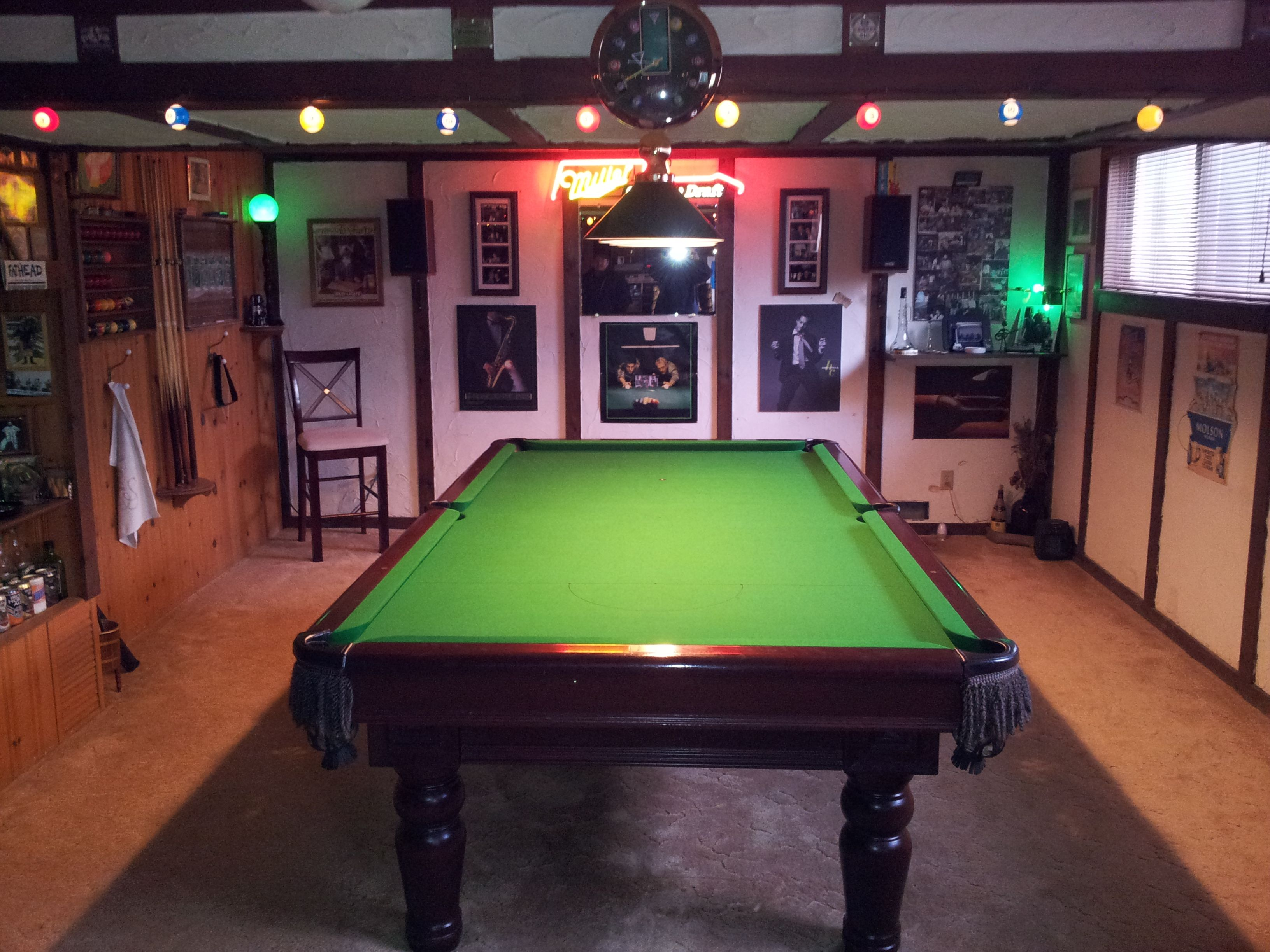 Pin by family recreation centre on pool table room ideas for Pool table room ideas