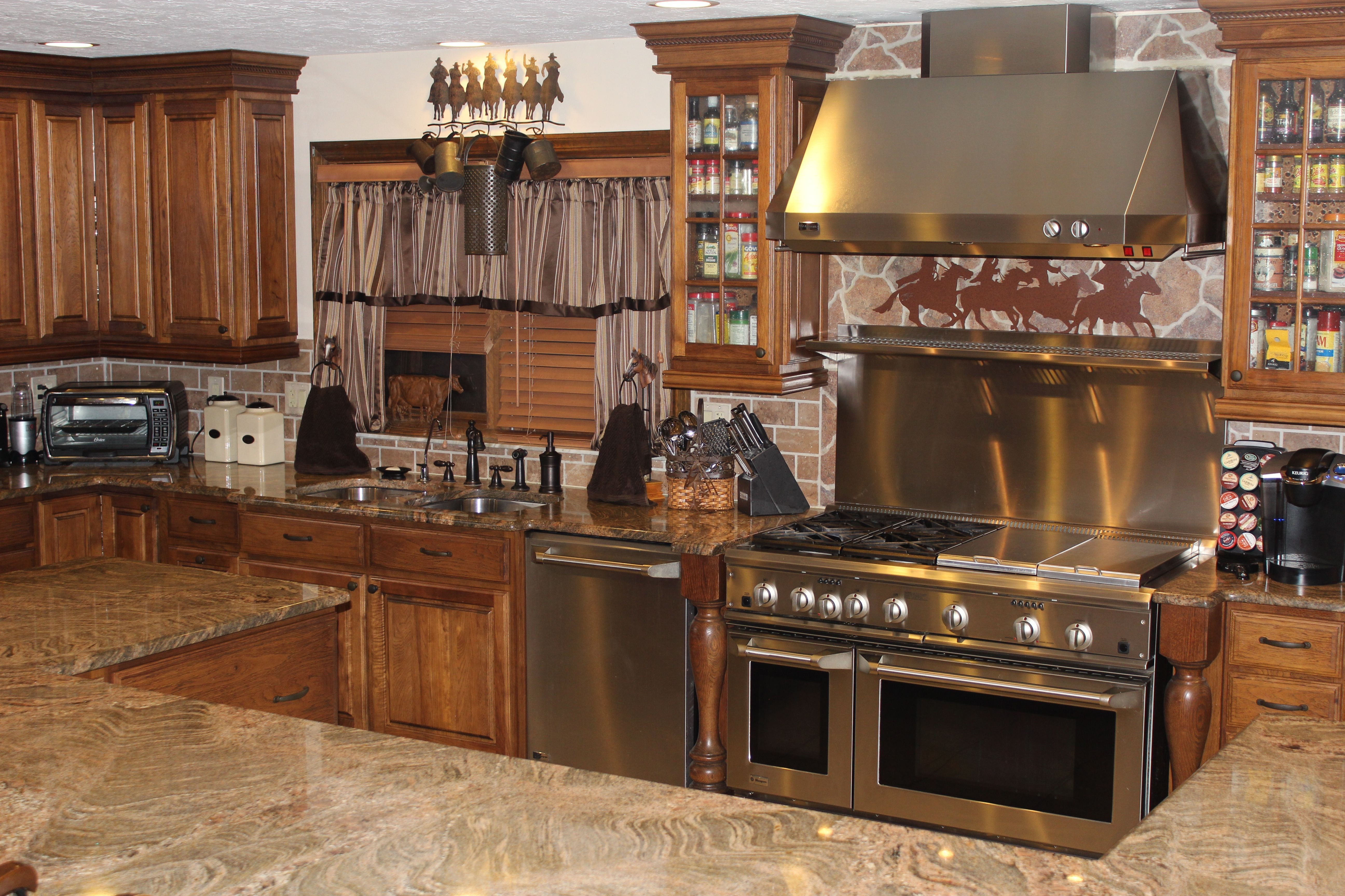 Western kitchen home western barn decor pinterest - Western canisters for kitchen ...