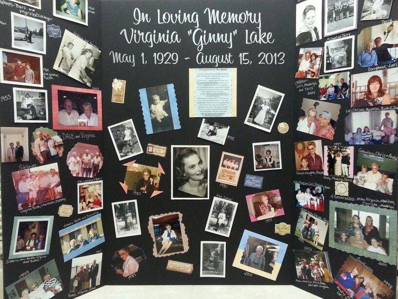 Memory Board For My Grandma 39 S Funeral Funerals Pinterest