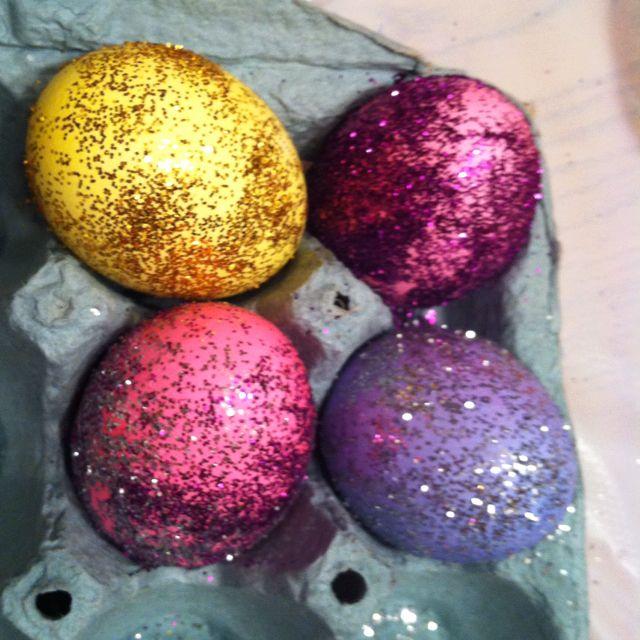 Glitter Easter eggs :) | Fun Ideas | Pinterest