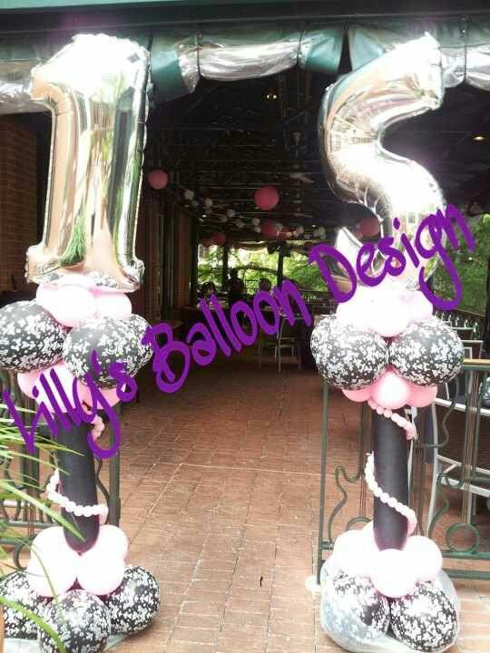 Paris party theme balloon decoration brytni 15th for 15th birthday party decoration ideas