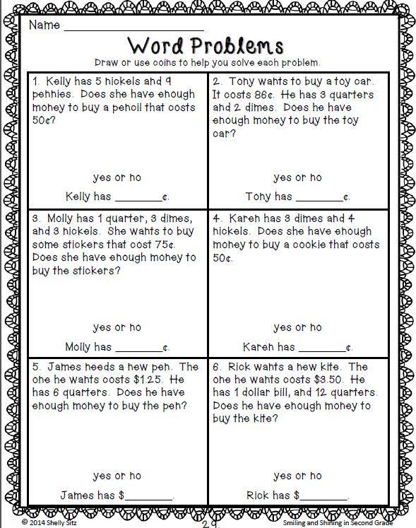 Common core word problems 4th grade