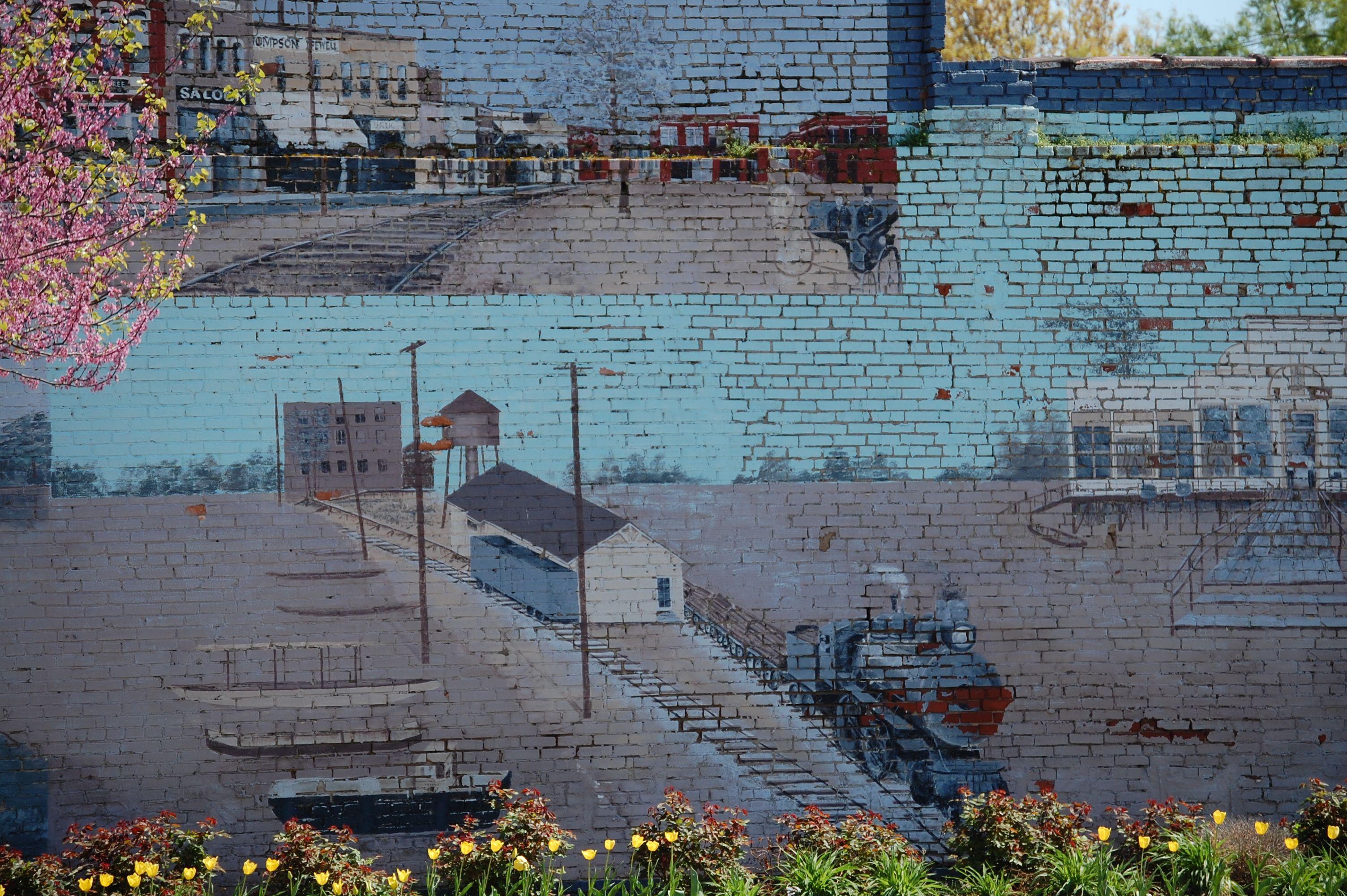 ... on a wall in Marked Tree, Arkansas | Murals, Graffiti, Wall Art