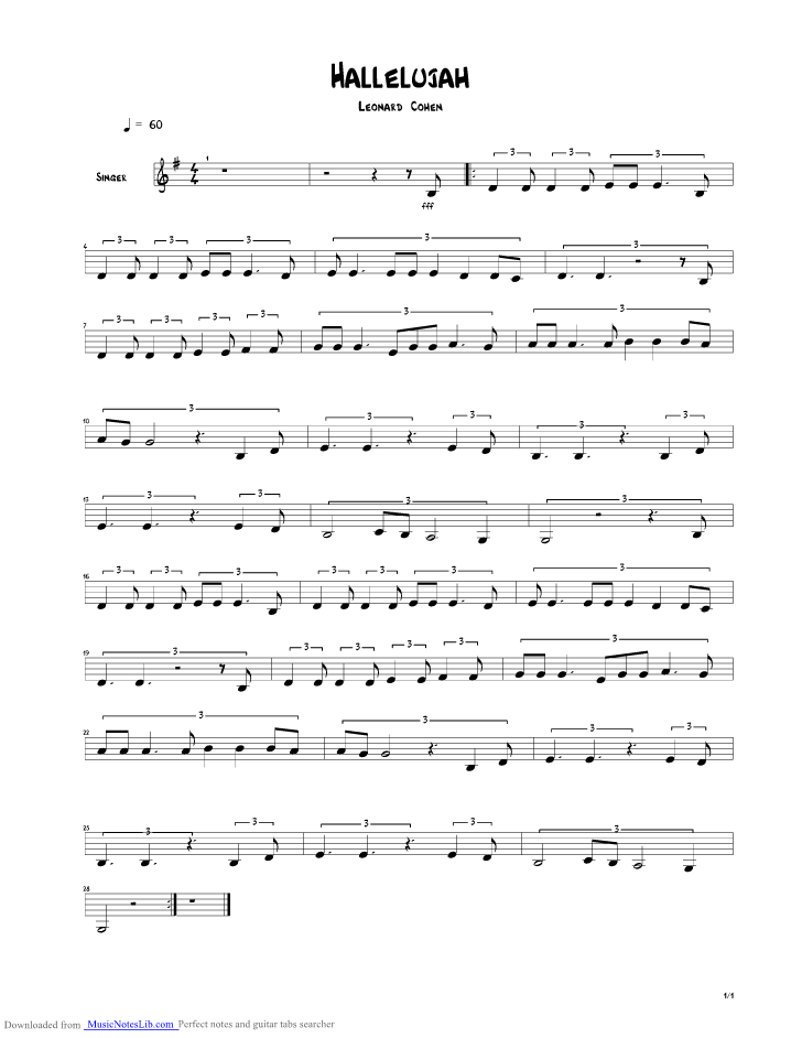 Contemporary Buckley Hallelujah Chords Collection - Song Chords ...