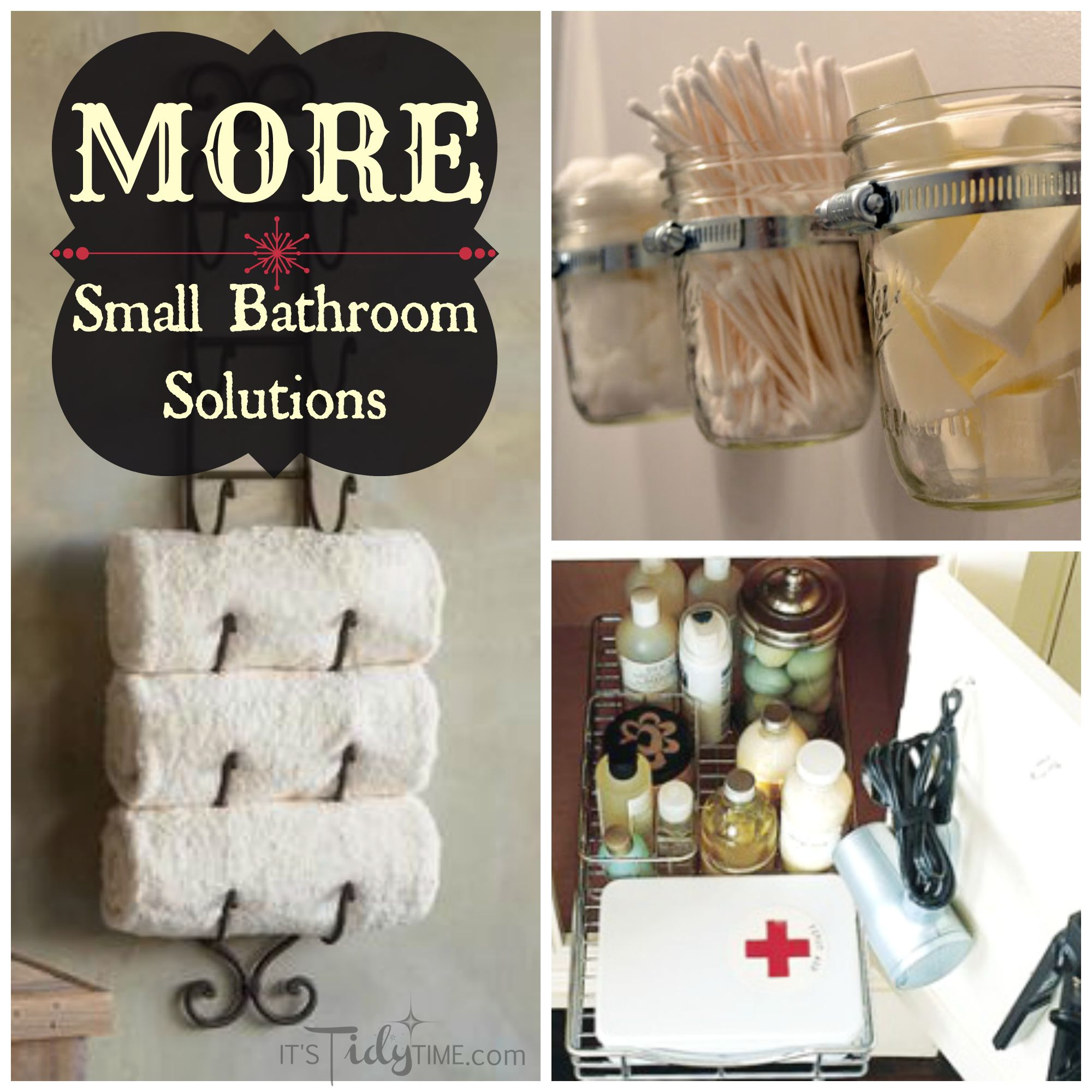 More small bathroom solutions it 39 s tidy time for Small bathroom solutions