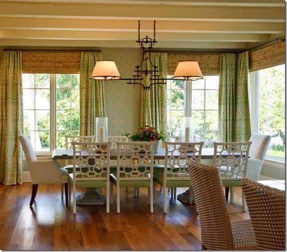 curtains with bamboo blinds dining rooms pinterest