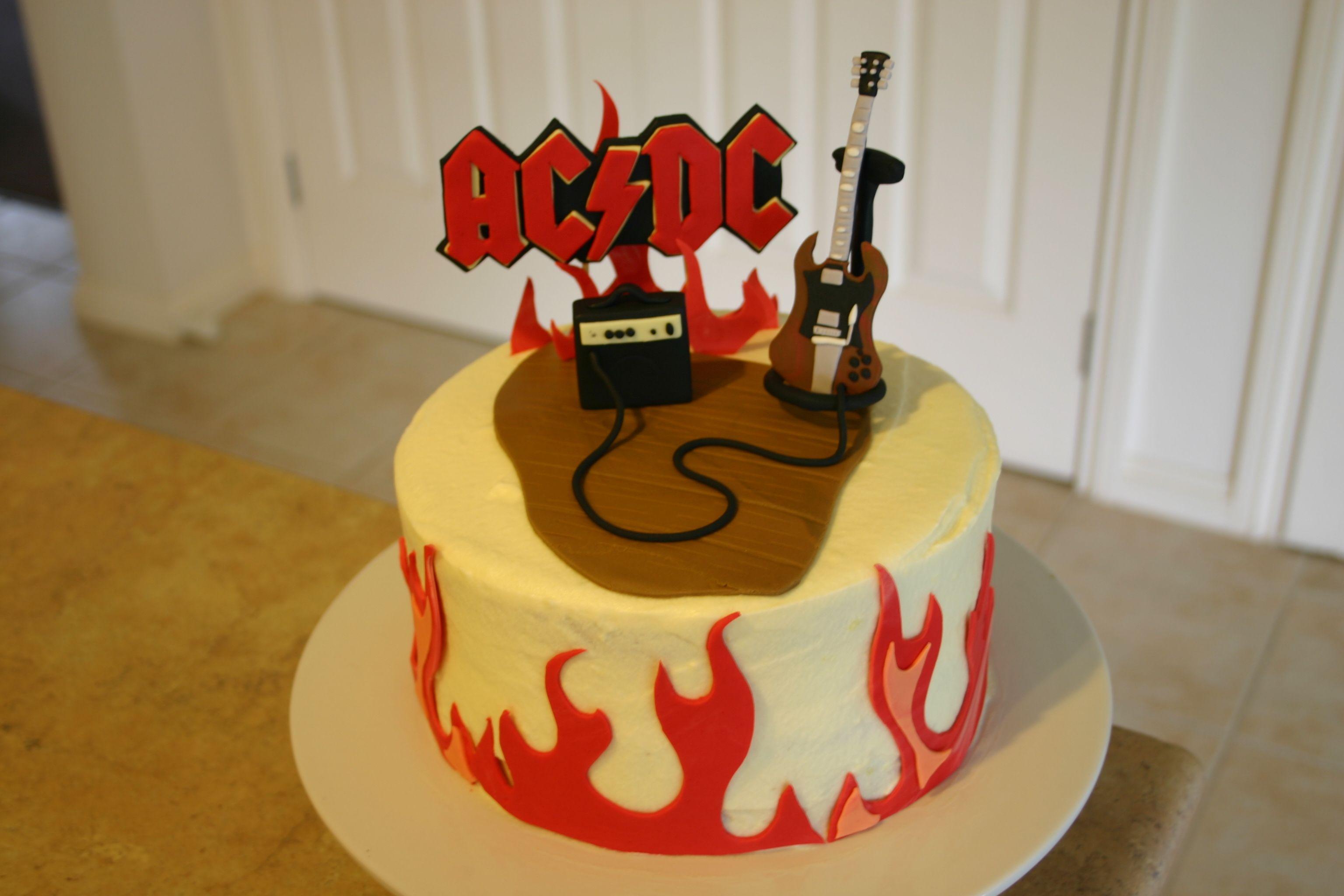 ac dc birthday cakes