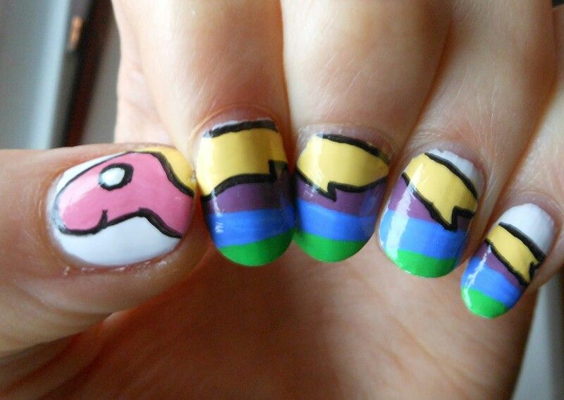Adventure time nail design | Favorite shows | Pinterest