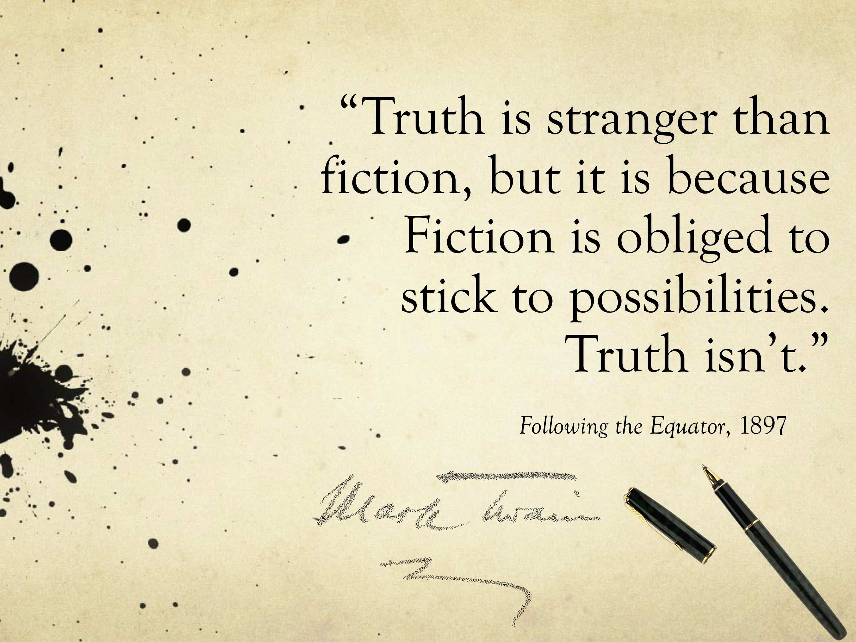 is truth stranger than fiction essays