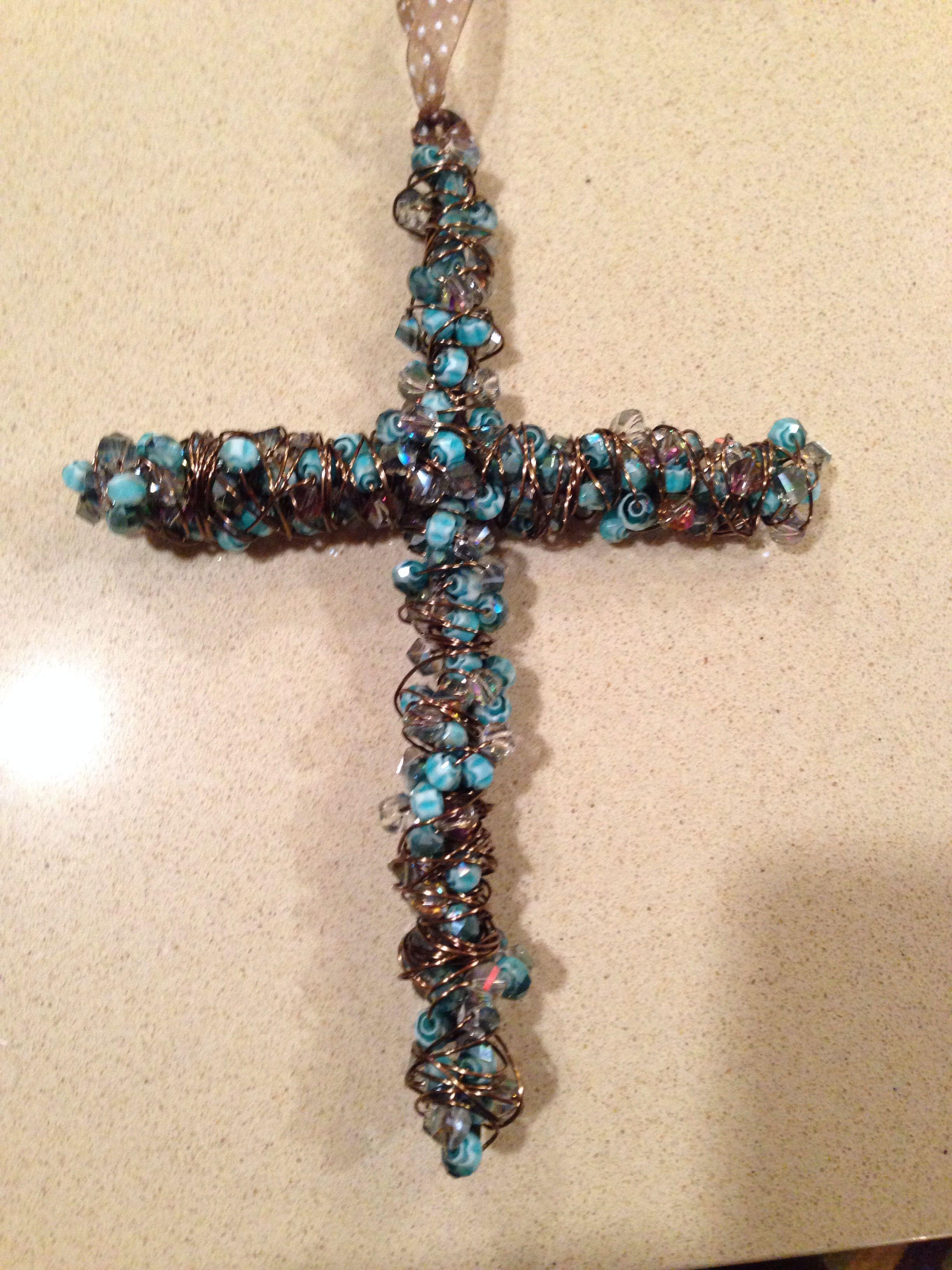 beaded cross crosses
