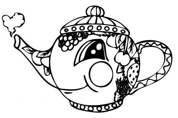 i am a little teapot coloring pages - photo #27