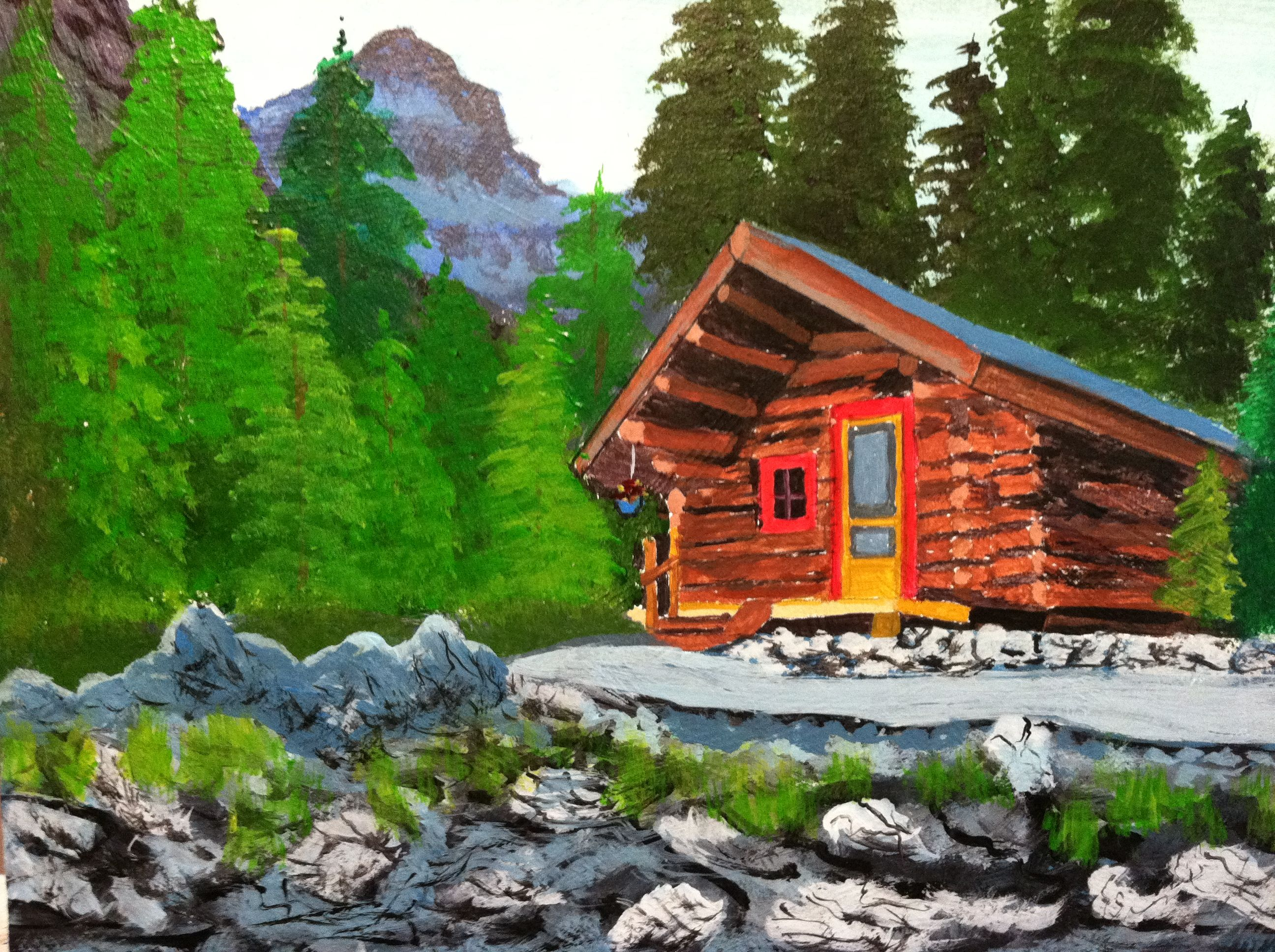 Mountain Cabin Acrylic Art Pinterest. Full resolution‎  photo, nominally Width 2592 Height 1936 pixels, photo with #367511.