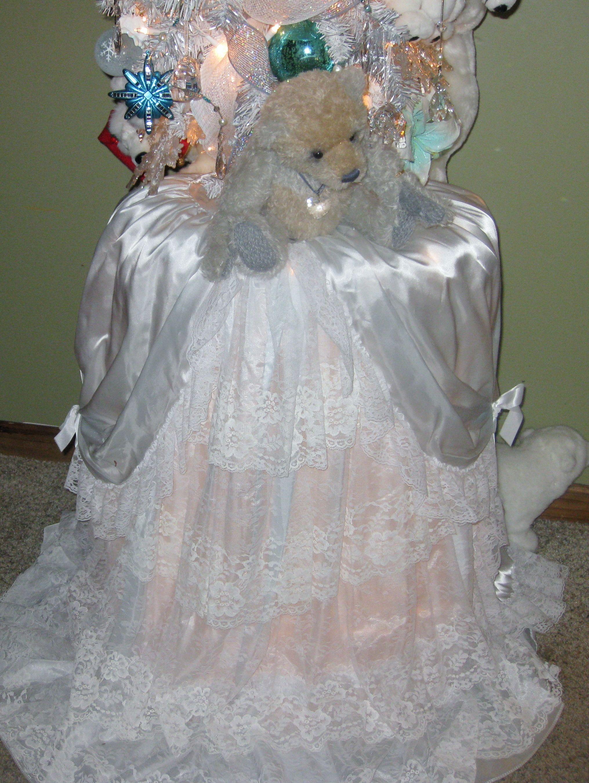Wedding Dress Christmas Tree Skirt