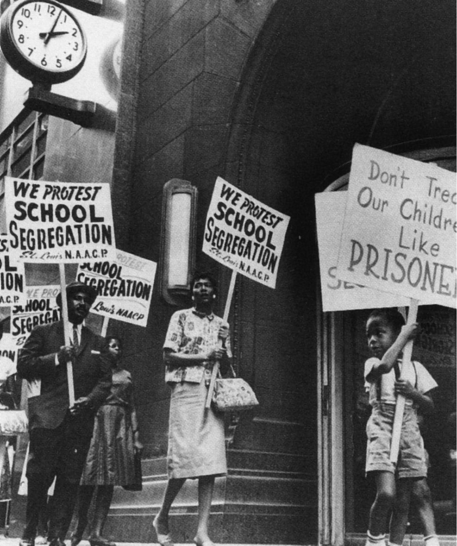 School segregation protest | Jim Crow Laws / Segregation ...