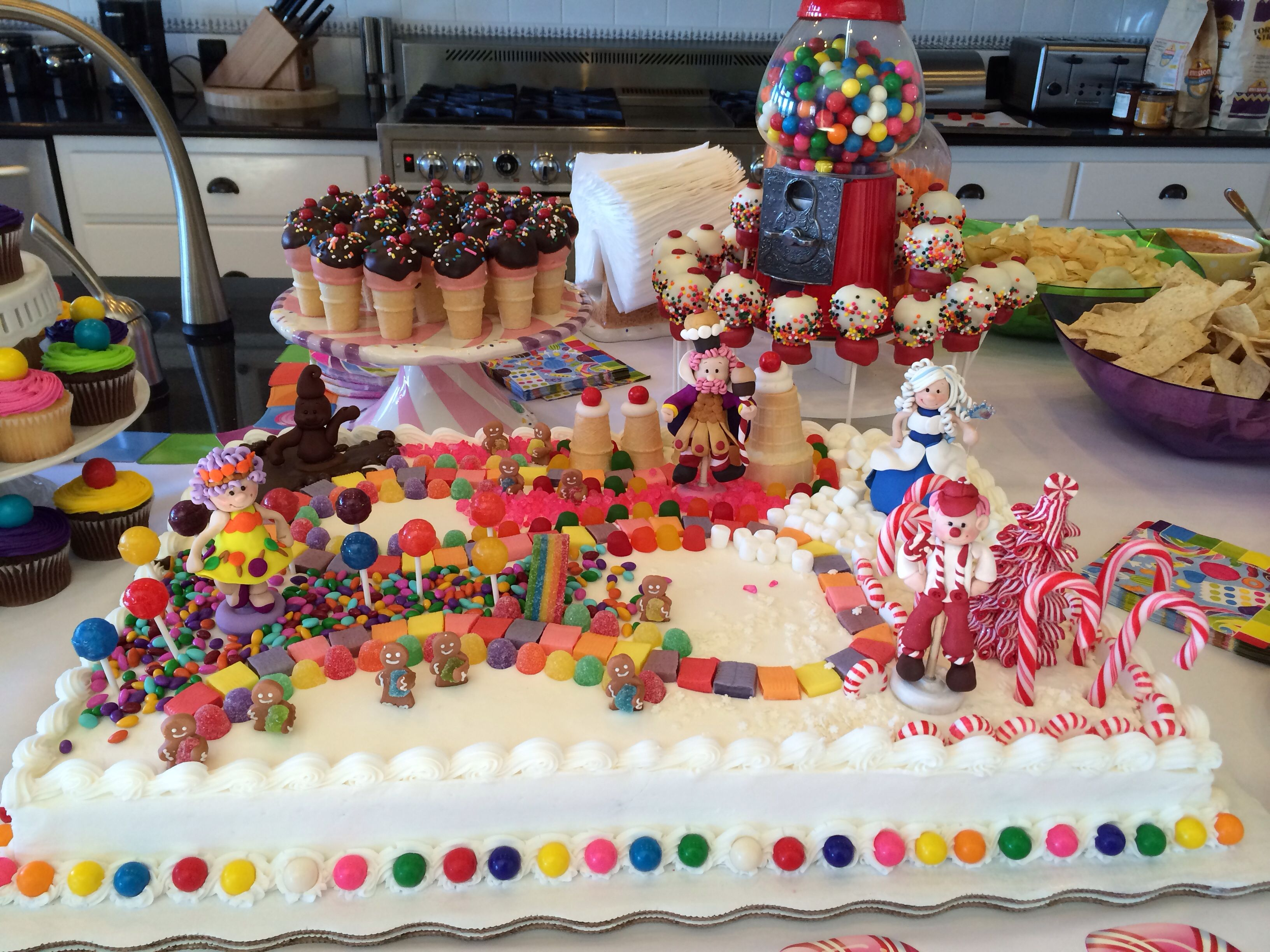 Candyland Cake Party Ideas Cakes Pinterest