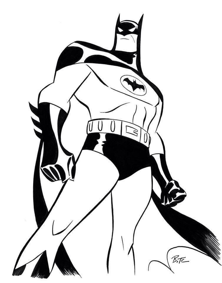 Batman Bruce Timm Coloring Coloring Pages