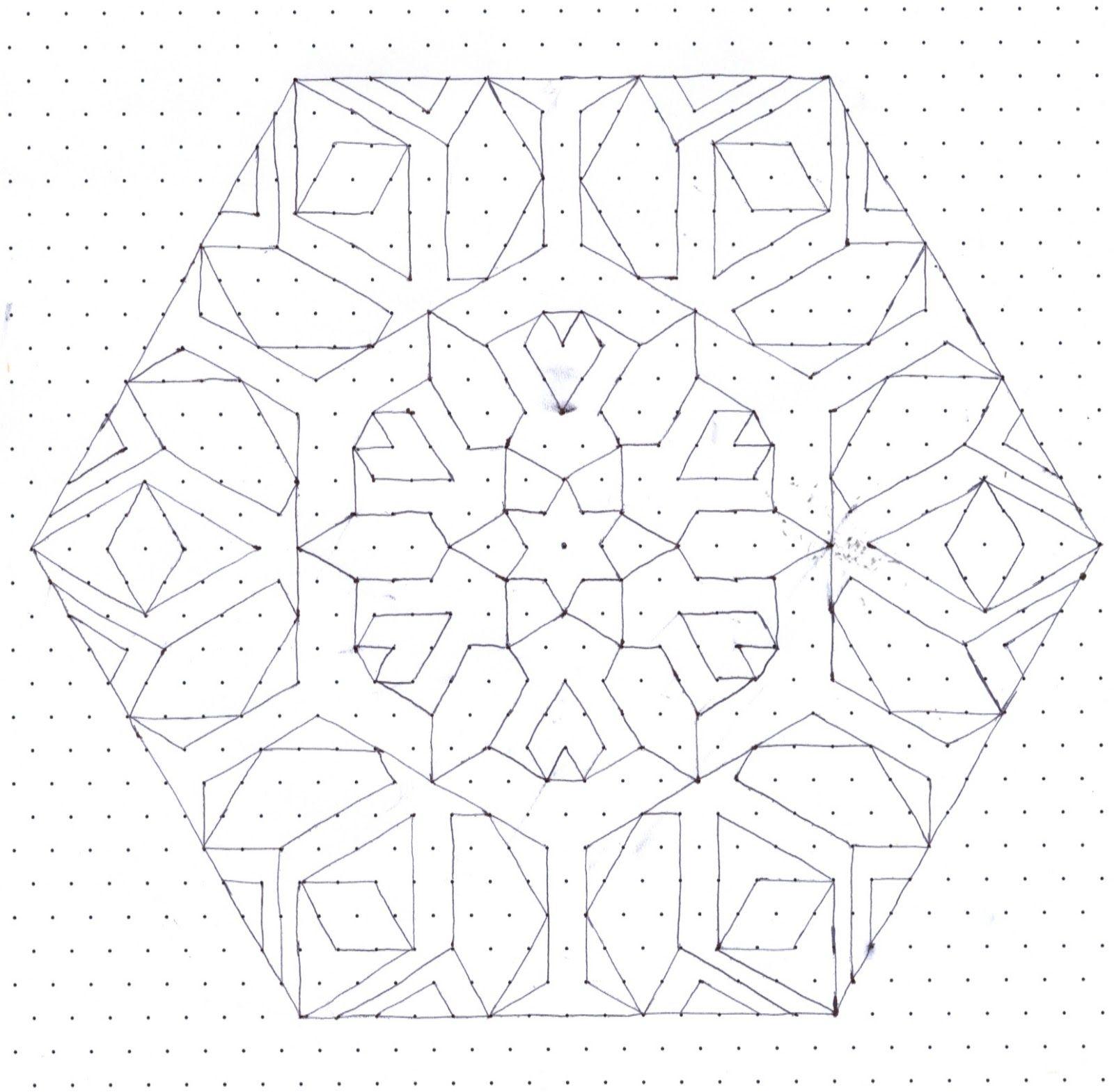 "Star/snowflake pattern on ""dot"" paper   Star Patterns & Designs   Pin ..."