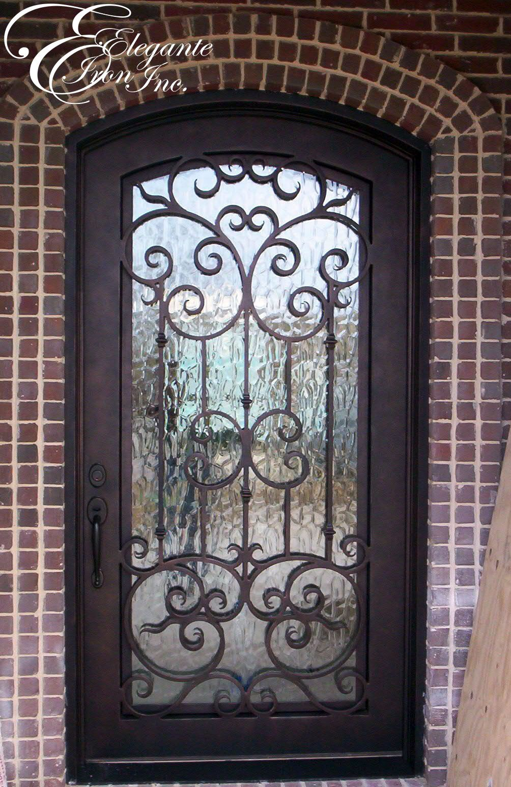 Custom wrought iron front door home sweet home pinterest for Wrought iron front doors