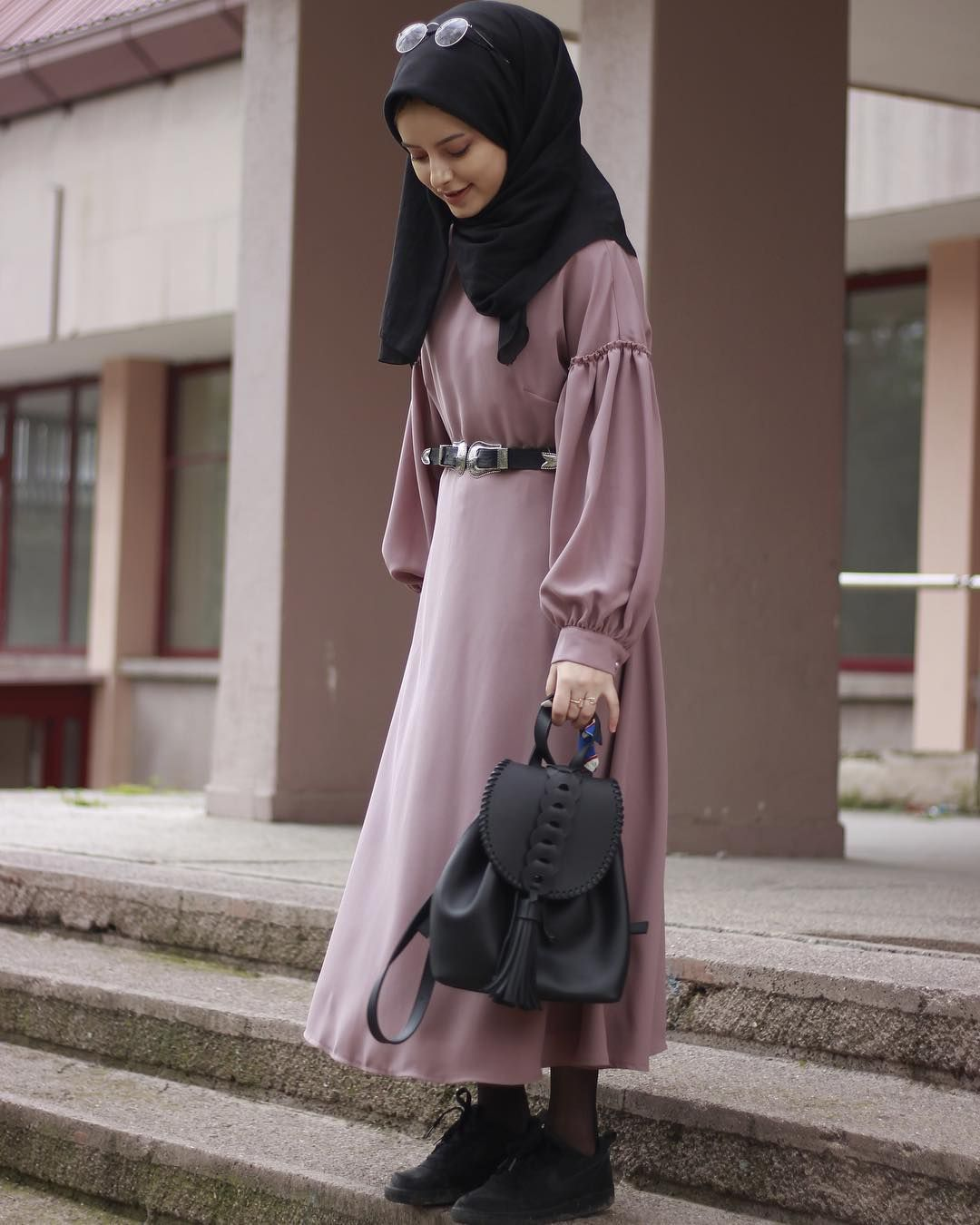 Fashionable hijab styles step by 21