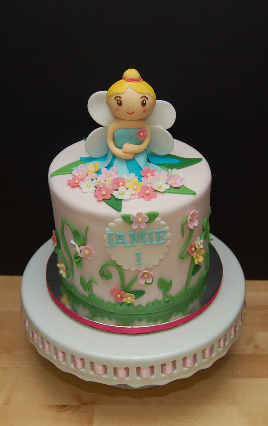 You Have To See A Garden Fairy Cake On Craftsy