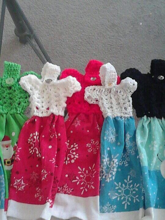 Crochet dress towel toppers crochet pinterest