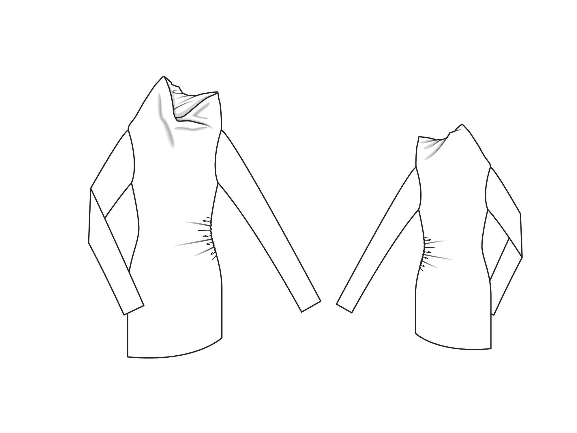 Как сшить платье с хомутом с воротником 304