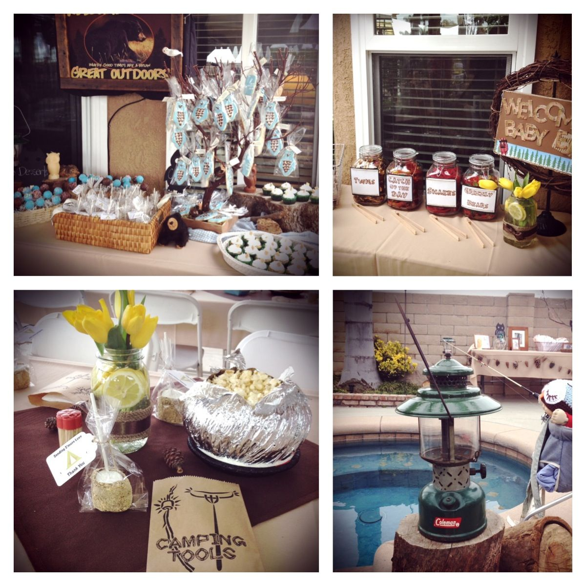 camp out theme baby shower for baby e christina ideas pinterest