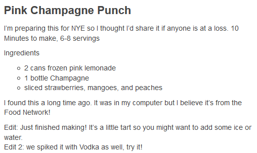 pink champagne punch | Alcoholic Beverages | Pinterest