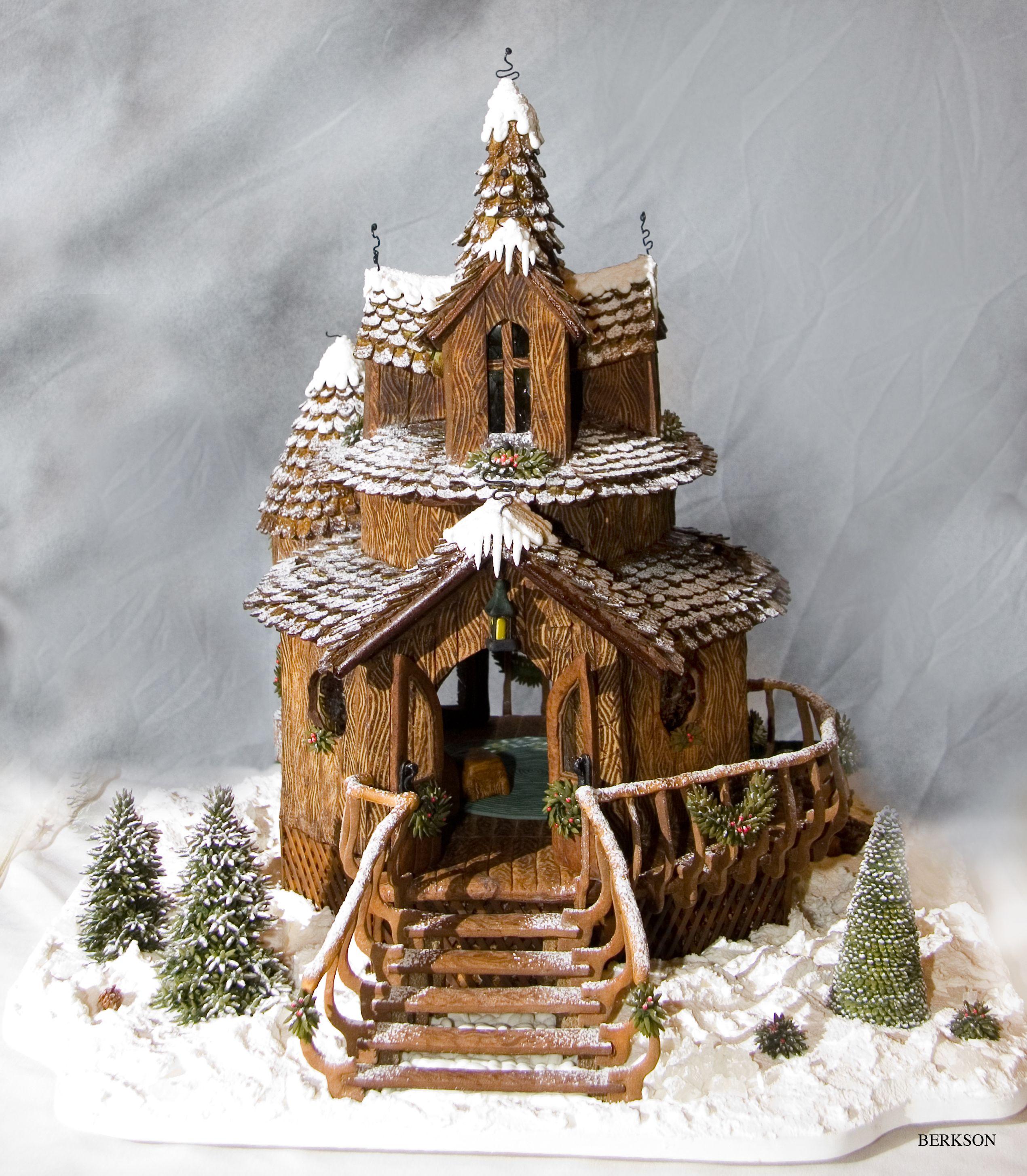Gingerbread Cabin Christmas Pinterest