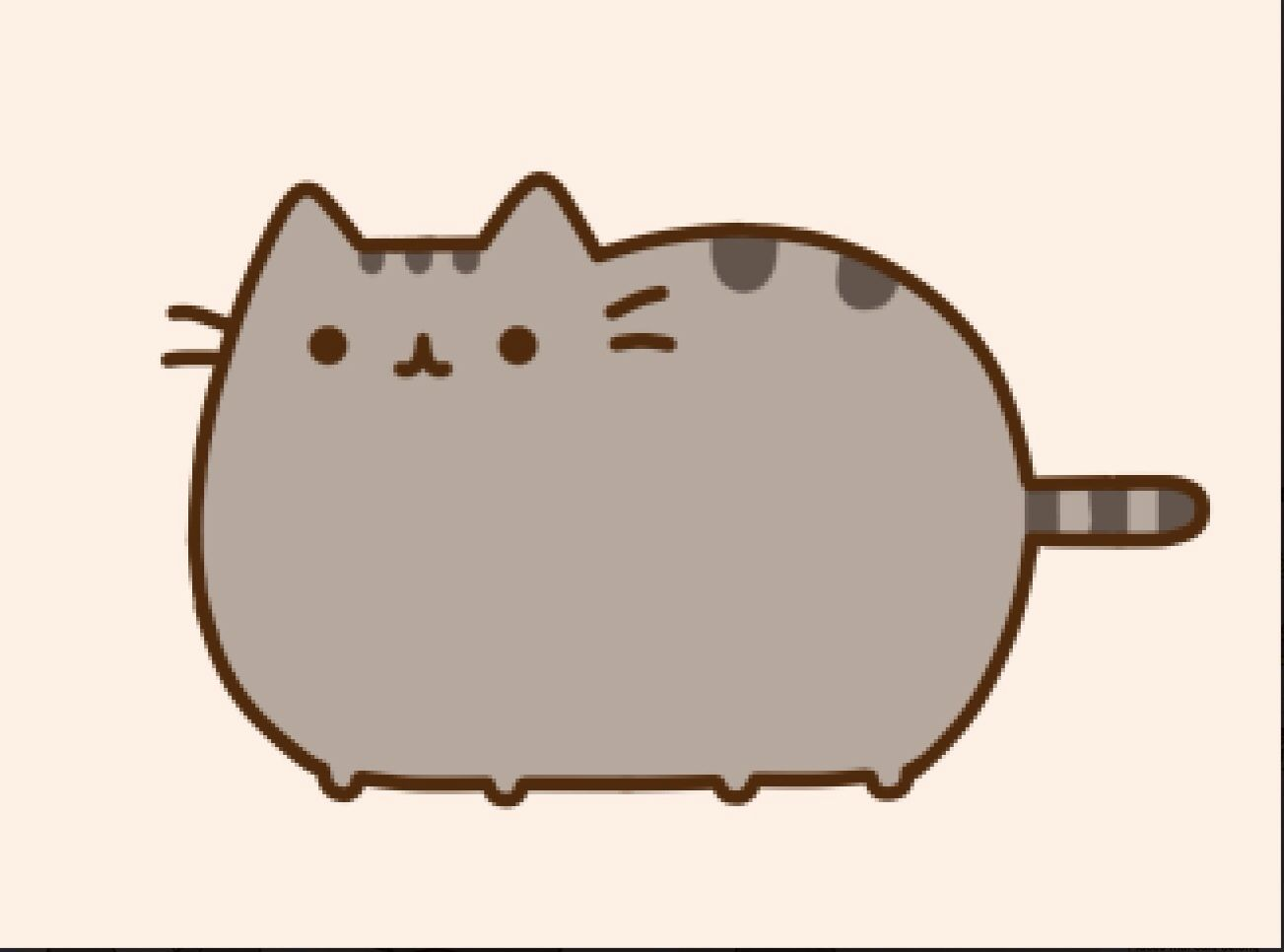 the gallery for  gt  pusheen noodles fat black cat clipart fat cat clipart