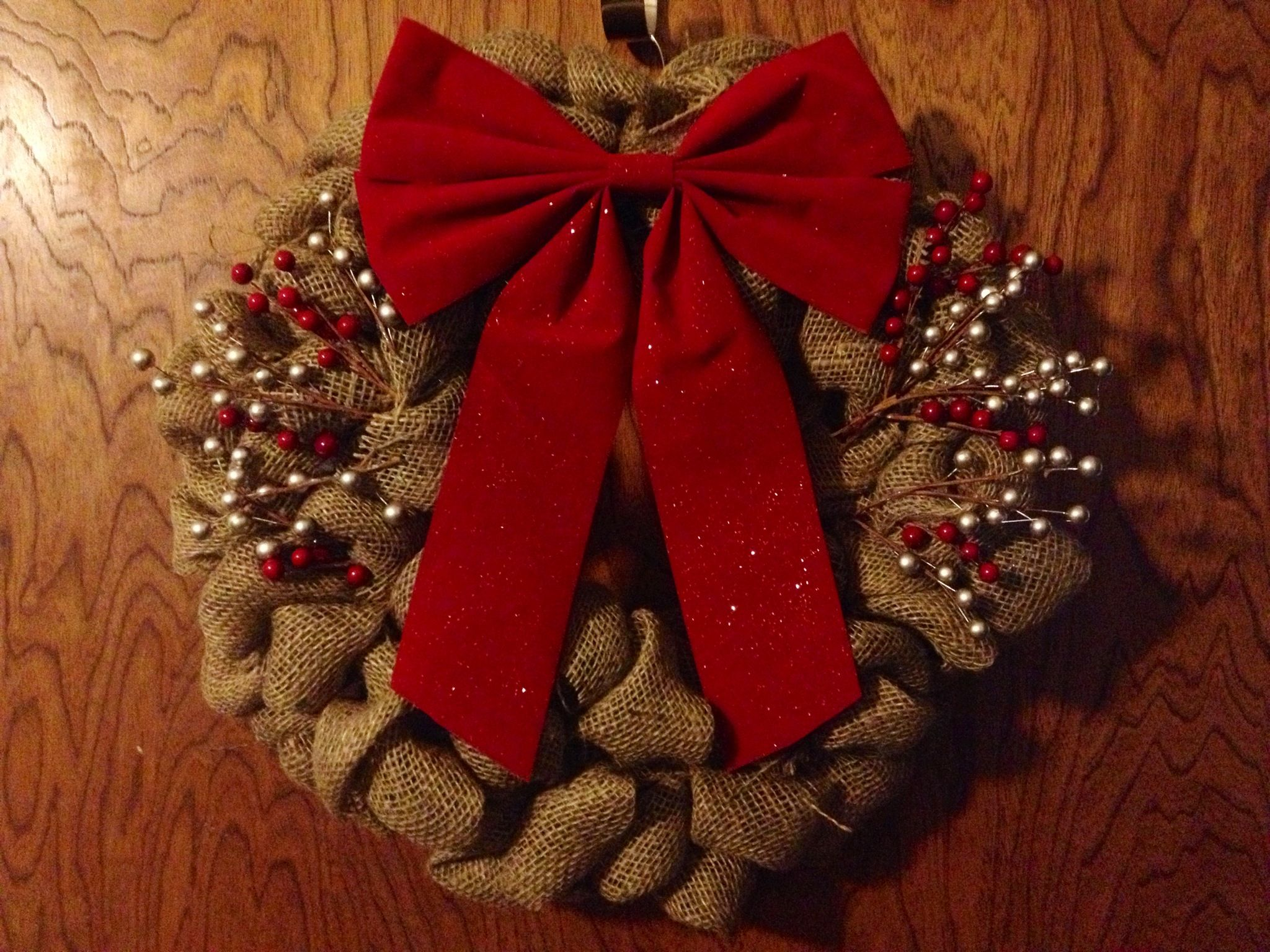 Burlap christmas wreath burlap pinterest Burlap xmas wreath