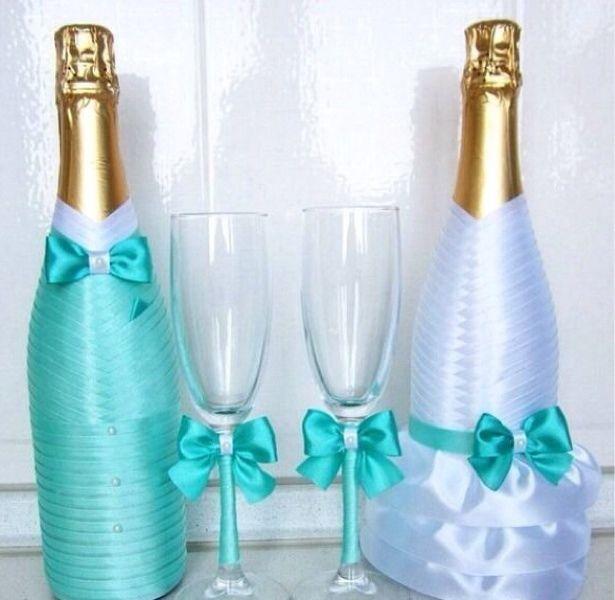 Свадебные бокалы и шампанское фото своими руками