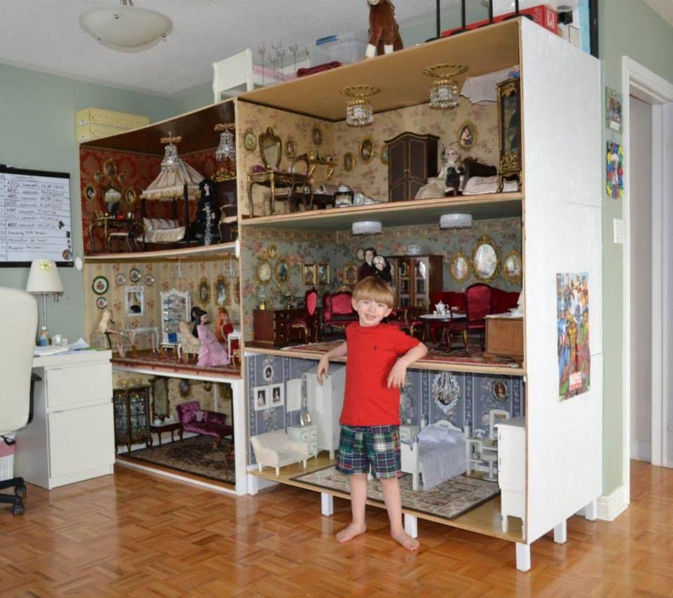 how to make a big doll house