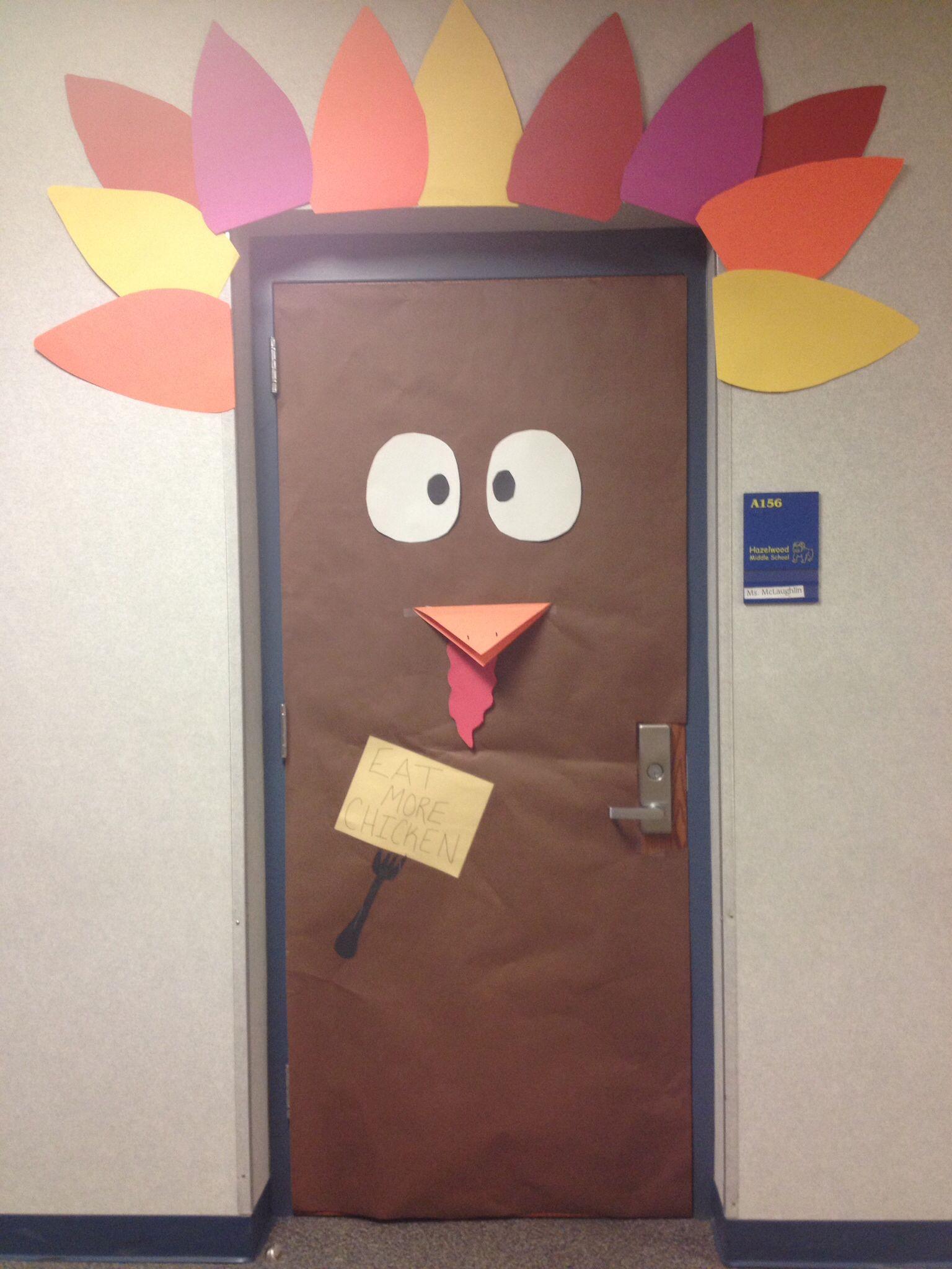 Thanksgiving door decoration classroom ideas pinterest