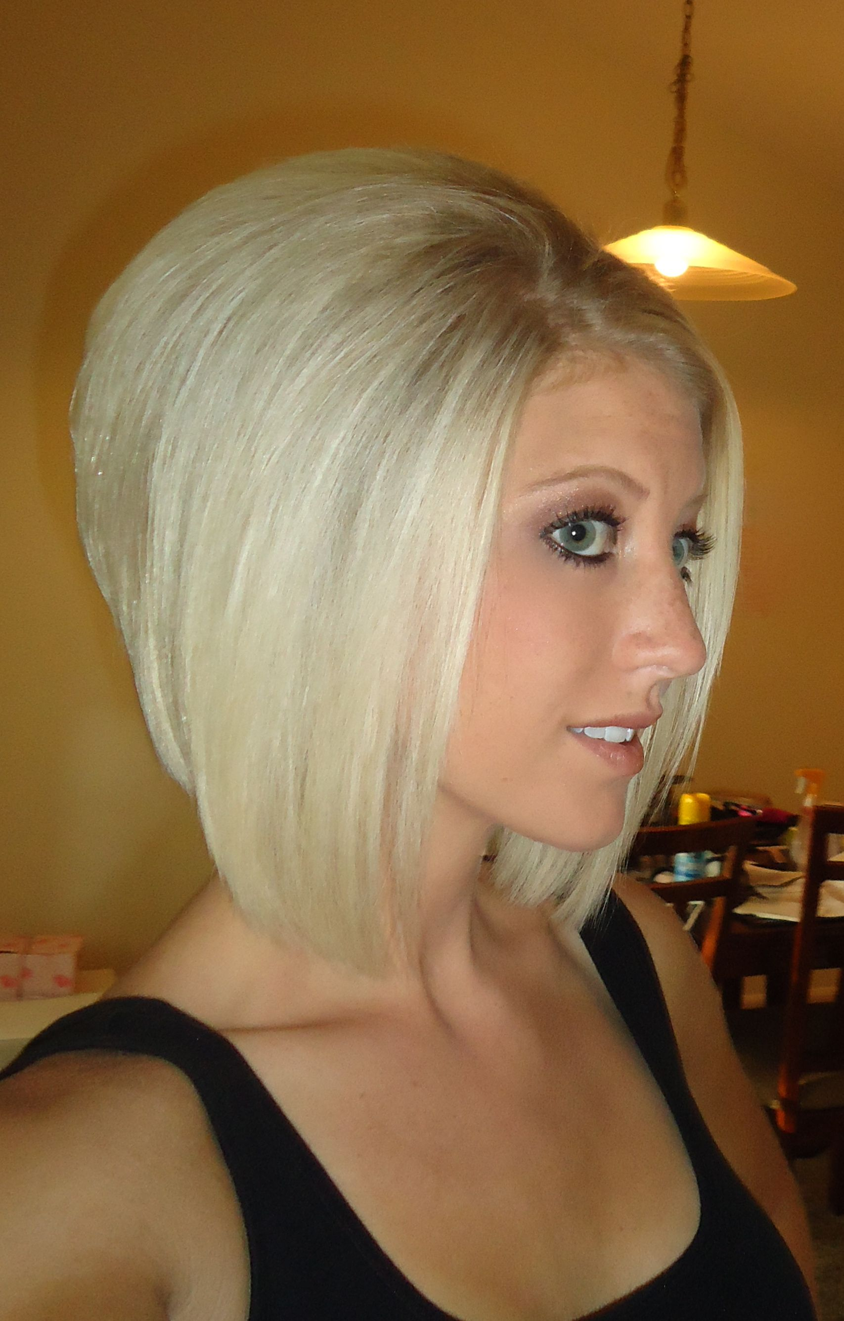 Angled Bob   Hair styles   Pinterest