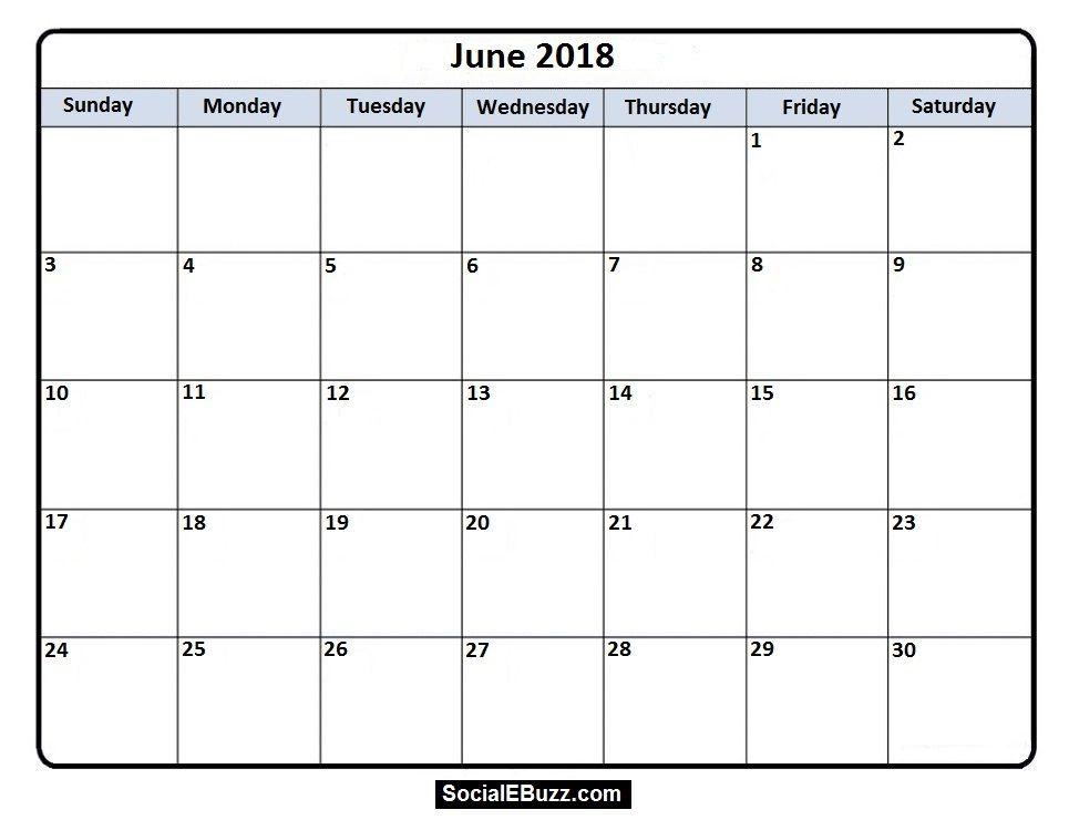Pin by Calendar Printable on June 2018 Calendar | Pinterest ...