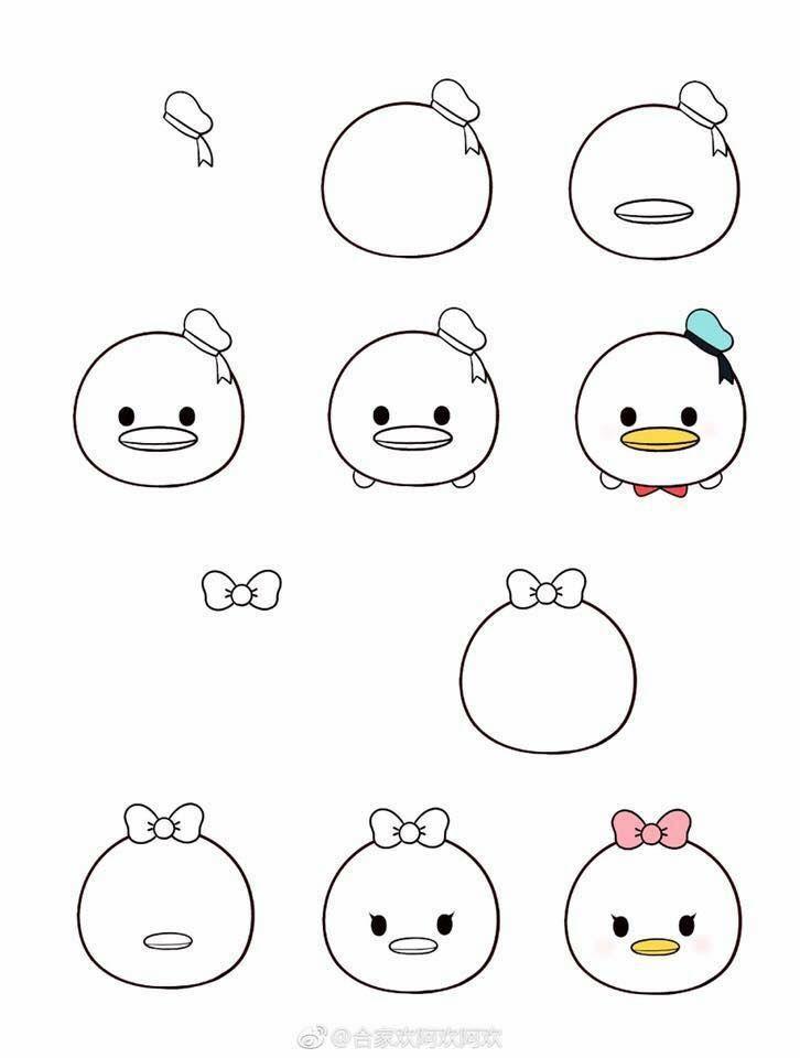 かわいい 簡単 ディズニー キャラクター イラスト