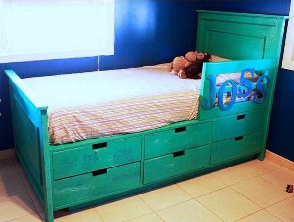 Giường lưu trữ với ngăn kéo FILLMAN