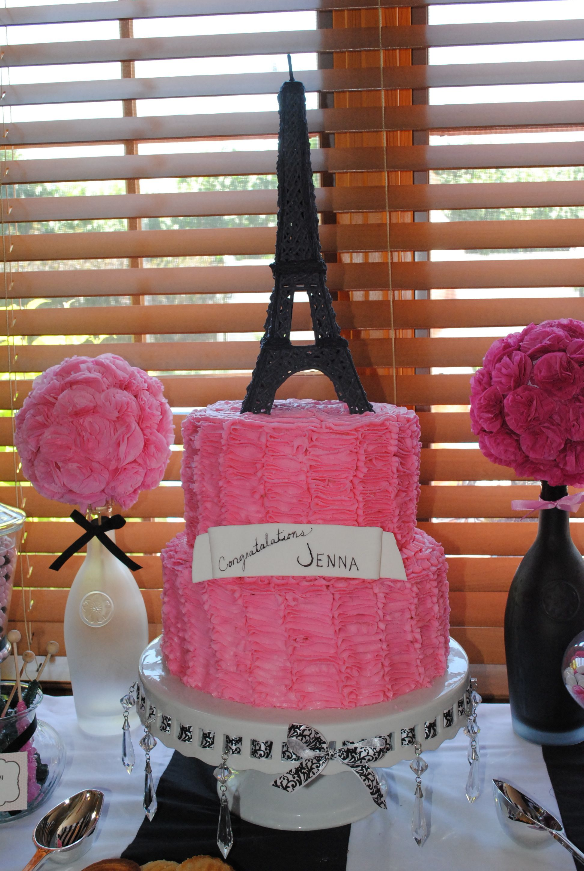 eiffel tower cake | 17th Birthday cakes | Pinterest
