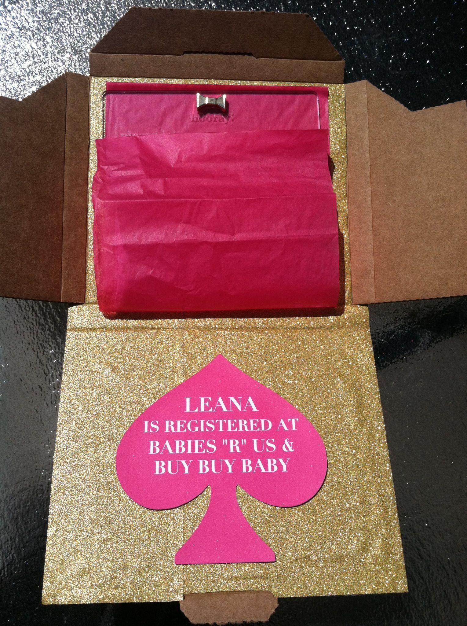 interior boxed invite kate spade inspired baby shower leann pint