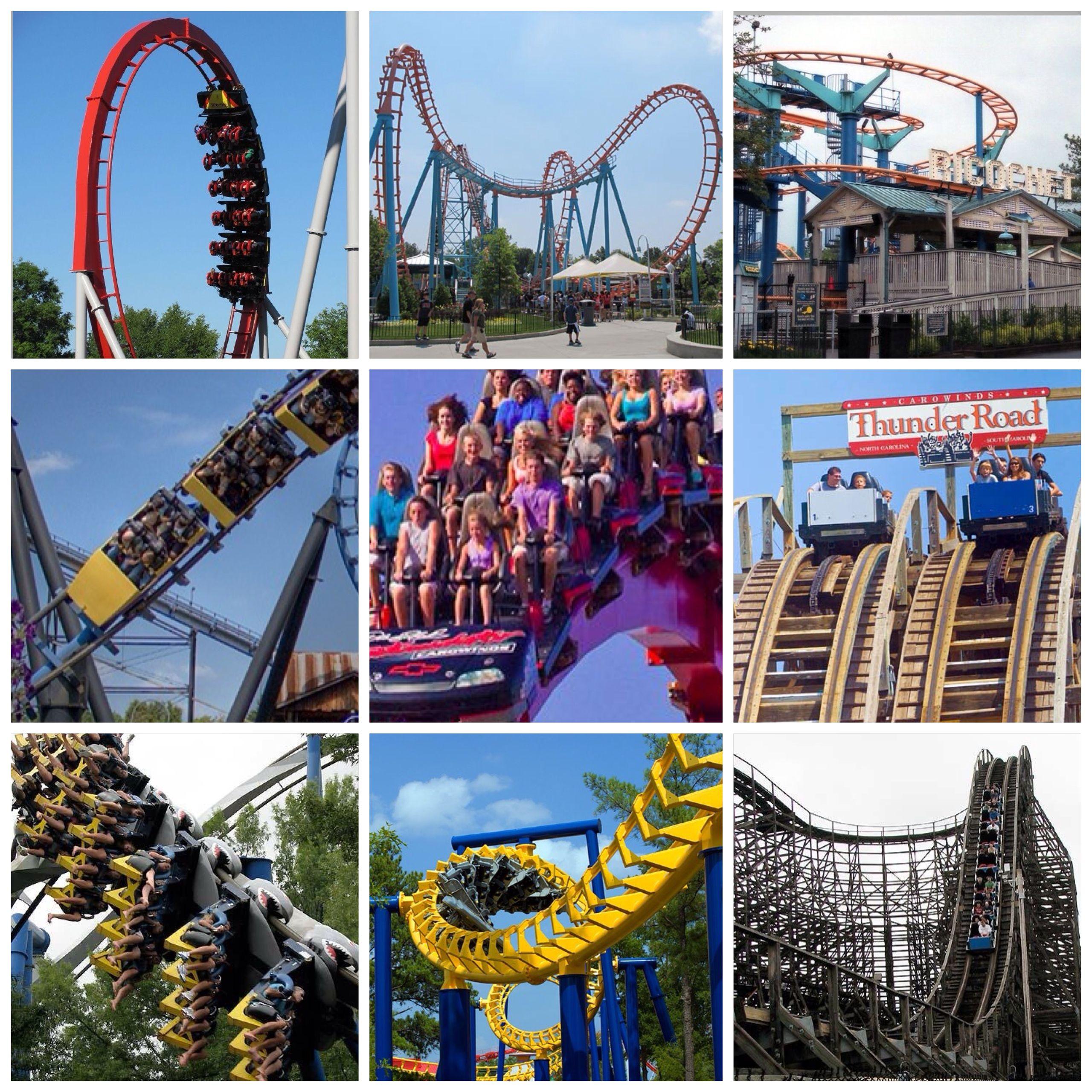 carowinds charlotte nc roller coasters pinterest