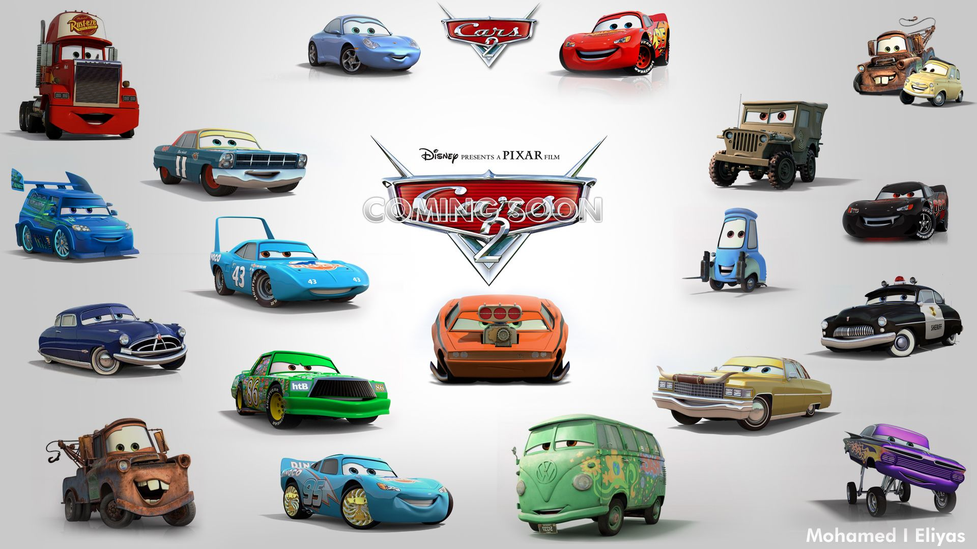 Cars the movie characters names and pictures