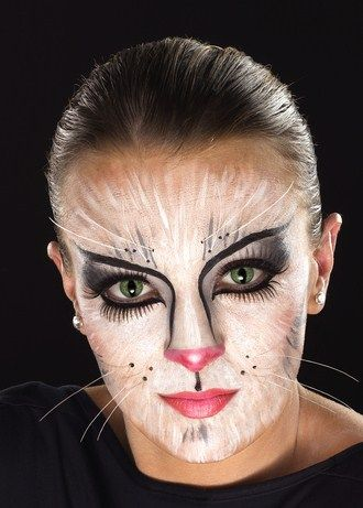 Gallery For &gt Cat Face Painting Halloween - Scary Cat Makeup